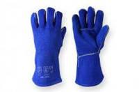 Перчатки рабочие краги сварочные синие размер 14.