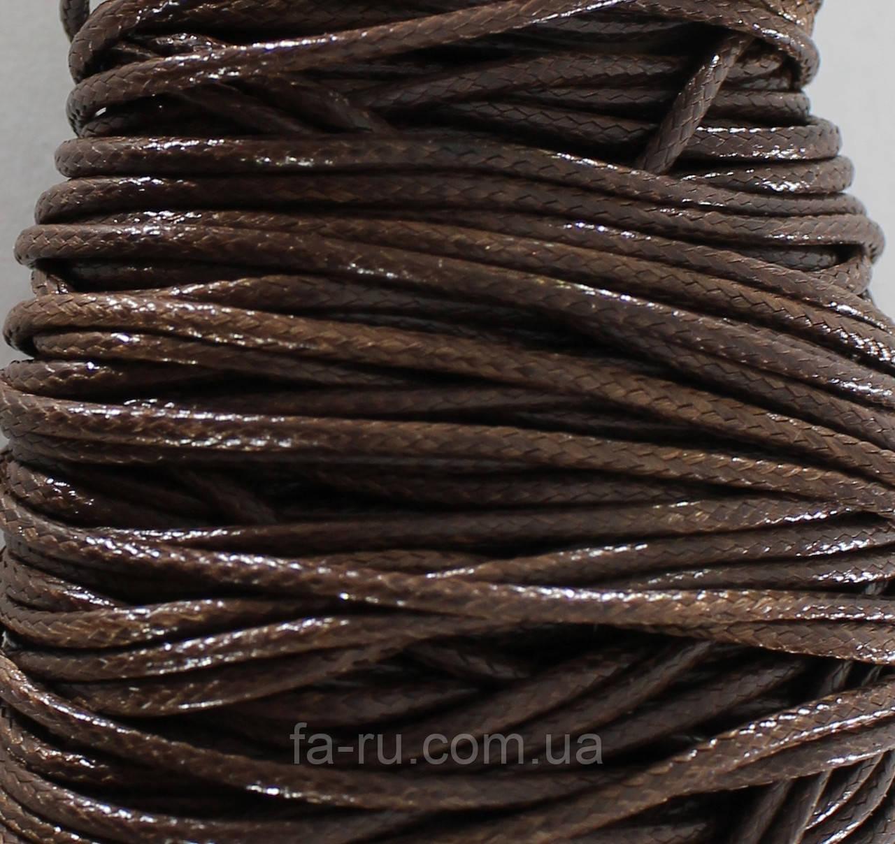 Шнур вощеный, коричневый