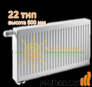 Радиатор стальной Purmo 22 класс 600х400 нижнее подключение