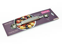 Фигурная ложка из нержавеющей стали для фруктов и овощей двухсторонняя Fissman (GT-8692.CT)