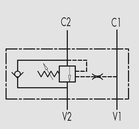 """Overcenter - гальмівний (підпірний) клапан (60 л/хв, G 1/2""""), фото 2"""