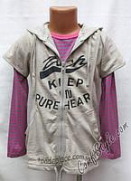 Детская кофта с накидкой - р. 92 110 122