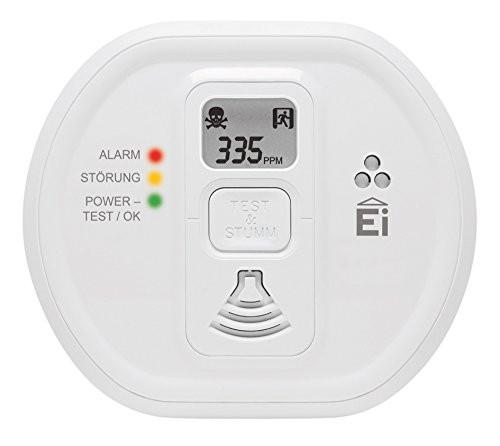 EI208W / Ei208DW Автономный детектор угарного газа СО с дисплеем