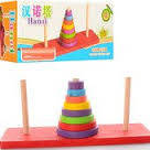 Деревянная пирамидка 8 Колец