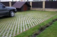 Тротуарная плитка парковочная решетка., фото 1