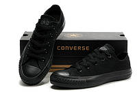 Женские кеды Converse All Star низкие черные