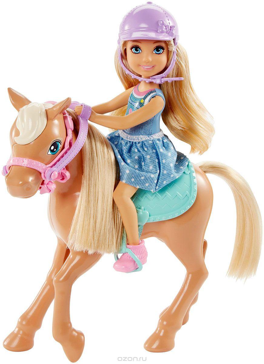 Кукла Barbie Игровой набор Челси и пони