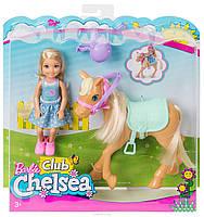 Кукла Barbie Игровой набор Челси и пони, фото 3