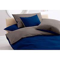"""Однотонное постельное белье """"CLASSIC BLUE + DARK GREY"""", сатин"""