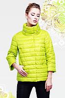 Яркая однотонная женская демисезонная  куртка Фарида 42-54рр