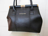 Женская сумка Michael Kors (Майкл Корс), чёрная кожзам