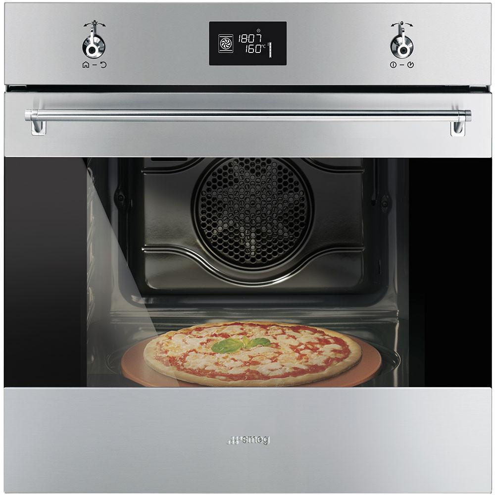 """Встраиваемый духовой шкаф Smeg SF6390XPZE с функцией """"пицца"""""""
