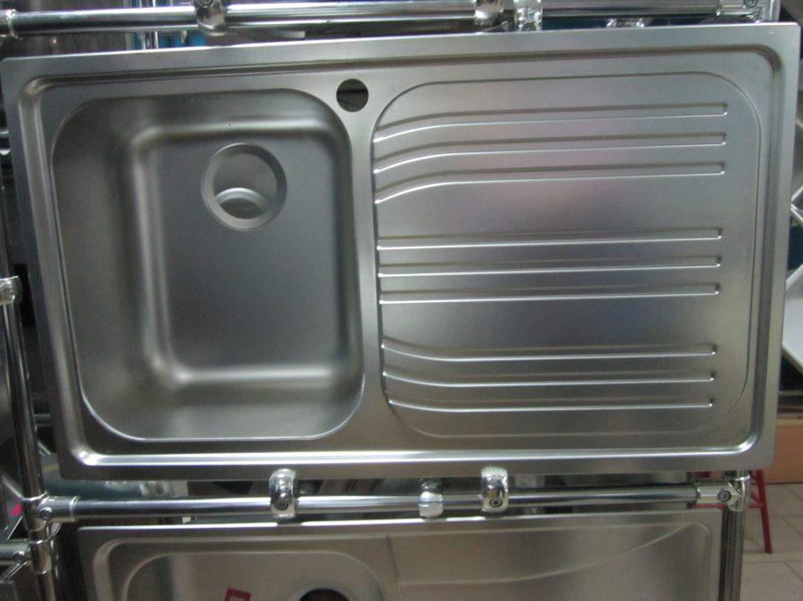 Мойка кухонная из нержавеющей стали Dominox (Franke) Radar L B11 декор (чаша слева)
