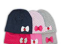 Трикотажная шапка для девочек р.50-52