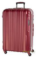 Дорожный чемодан из поликарбоната на 4-х колесах (большой) March Cosmopolitan 5001 красного цвета