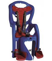 Сиденье задн. Bellelli PEPE Сlamp (на багажн) до 22кг, синее с красн подкладкой