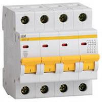 Выключатель автоматический IEK ВА47-29 4p D 1А MVA20-4-001-D