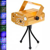 Mini Laser stage lighting YX-032 – яркий лазерный проектор для вечеринок / Декоративное освещение