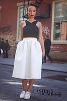 Женская юбка средней длины пышная