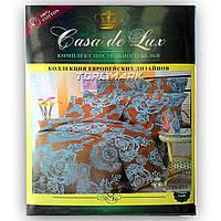 """Двуспальный комплект постельного белья """"Casa de Lux 100% хлопок"""" - Марокко - 180*220 - Украина"""