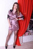 Женский халатик с кружевом