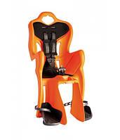 Сиденье задн. Bellelli B1 Сlamp (на багажник) до 22кг, оранж с чёрной подкладкой