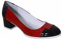 Женские туфли лодочка на каблуке 4см.