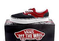 Кеды мужские Vans Era красно-черные топ реплика