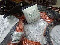 Тонкий кабельный  теплый пол ( 8.3 м.кв  ) Чехия  ( комплек с регулятором  и лентой  )