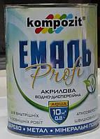 Эмаль акриловая Profi Kompozit мат и глянец белая, серая, желтая, зеленая, красная, коричневая, синяя, 0.8л