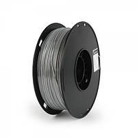 Пластиковый материал филамент gembird 3dp-ps1.75-01-gr для 3d-принтера polymer silk 1.75 мм серый