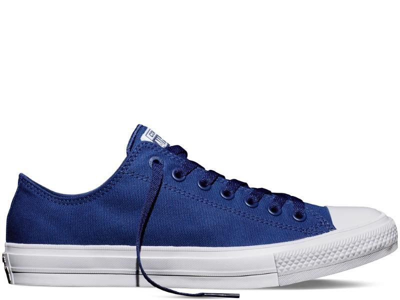 Кеды Converse All Star II Low Chuck Tailor Lunarlon синие топ реплика