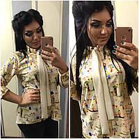 Рубашка женская шифон большие размеры  /ат1027