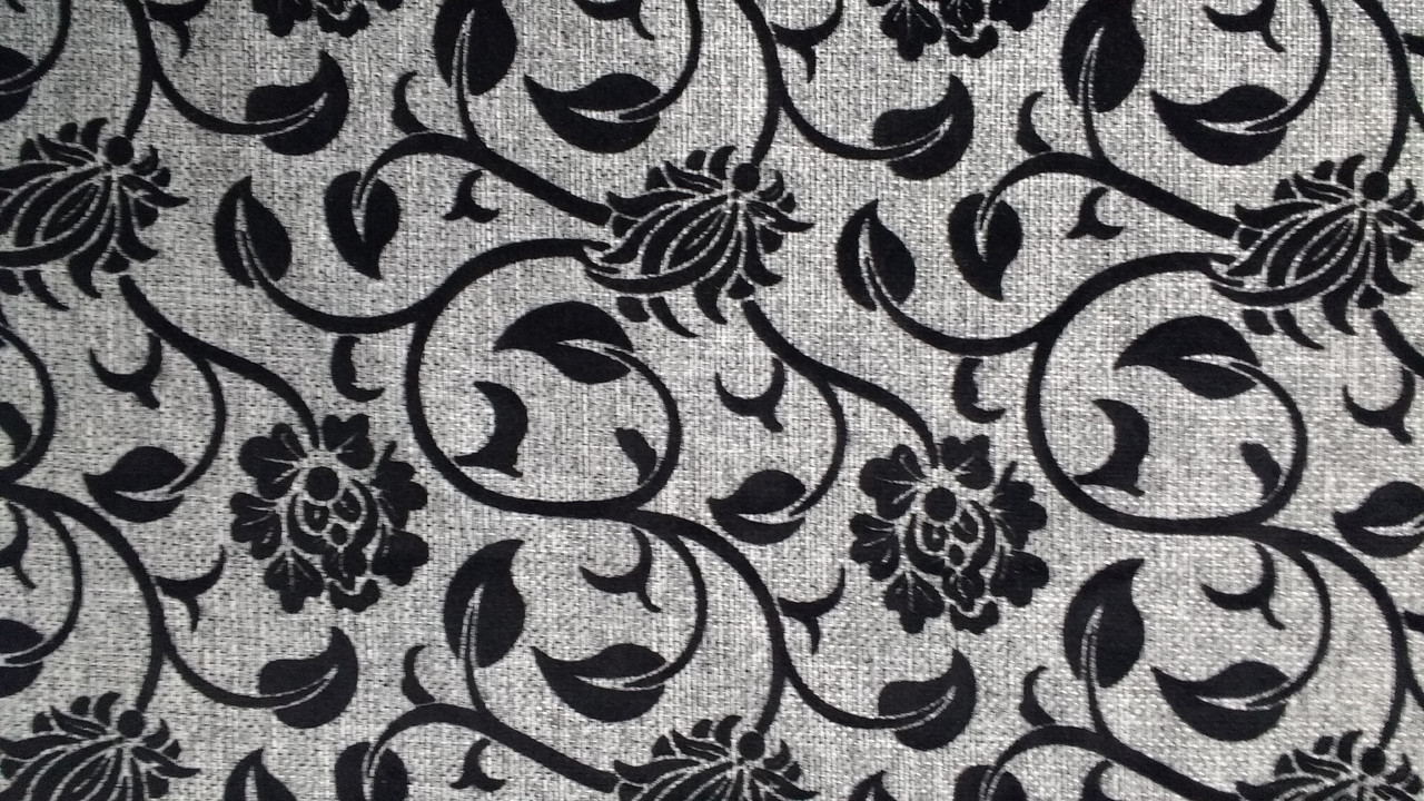 Мебельная рогожка с флоком ткань Элита сер