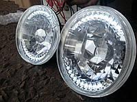 Передние фары на ВАЗ 2106 Ангельские глазки (20 диодов).