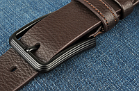 Мужской кожаный ремень. Модель 2146, фото 4
