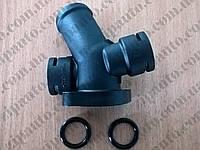 Фланец системы охлаждения (тройник) Volkswagen T4 2.4D/2.5TDI/2.5B METALCAUCHO 03602, фото 1