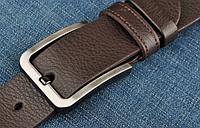 Мужской кожаный ремень. Модель 2146, фото 5