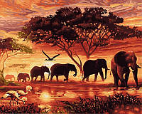 Картина раскраска по цифрам недорого Саванна (VP418) 40 х 50 см
