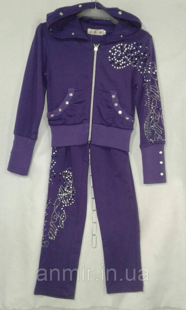 Спортивный костюм детский для девочек 5-9 лет,фиолетовый , фото 1