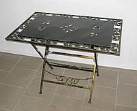 Стол кованый складной прямоугольный