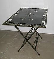 Стол кованый складной большой прямоугольный, фото 1