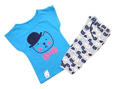 """Детская пижама футболка с бриджами """"Kat"""" р.34-40"""
