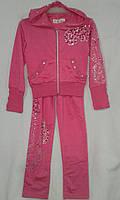 Спортивный костюм детский для девочек 5-9 лет,розовый, фото 1