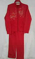 Спортивный костюм детский для девочек 5-9 лет,красный, фото 1