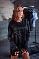 Платье женское черное джемпер