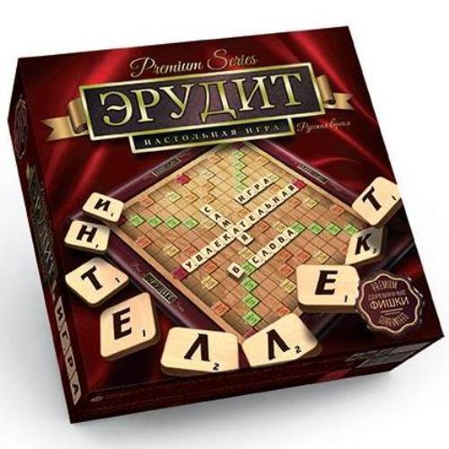 Настольная игра Эрудит 2 языка Premium Series
