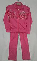 Спортивный костюм детский для девочек 5-9 лет,малиновый, фото 1