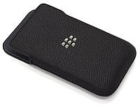 Чехол BlackBerry Classic Q20 кармашек кожаный черный