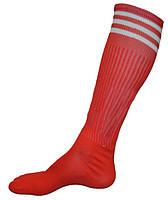 Гетры футбол взрослые. Красные с полосами